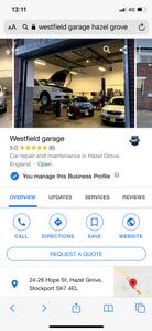 Westfield Garage Stockport