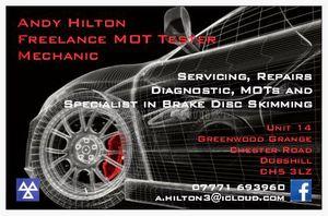 Andrew Hilton - MOT Tester / Mechanic / Brake Specialist